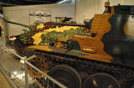 Some of the World War II tanks displayed at the Military Technical Museum in Lesany.