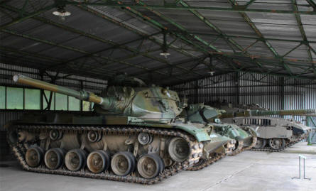 "Some of the many ""foreign"" tanks displayed at the Military Technical Museum in Lešany."