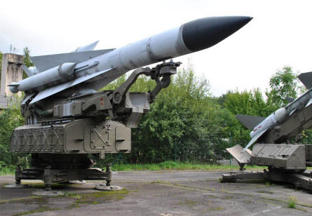 Some of the large Russian built missile launchers displayed at the Military Technical Museum in Lesany.