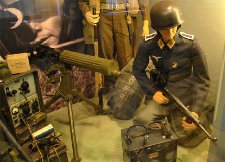 A German World War II soldier displayed at the Army museum in Prague.