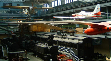 National Technical Museum (Prague) - Aircrafts, gliders and trains.