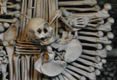 Details from the Kutna Hora Bone Church - all made with human bones.