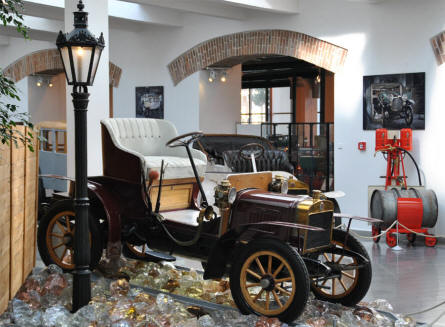 A vintage Laurin & Klement car displayed at the Skoda Auto Museum in Mlada Boleslav. Mr. Laurin and Mr. Klement founded what was later to be the Skoda car company.