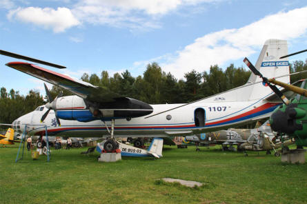 A Russian built Antonov An-30 displayed at the Air Park of Zruč - Plzen.