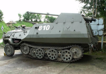 One of the many historic armoured vehicles displayed at the Rokycany Demarcation Line Museum.