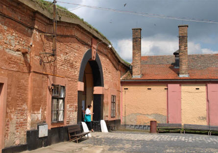 A small section of the old fortress that is a part of the Theresienstadt Concentration Camp in Terezin.