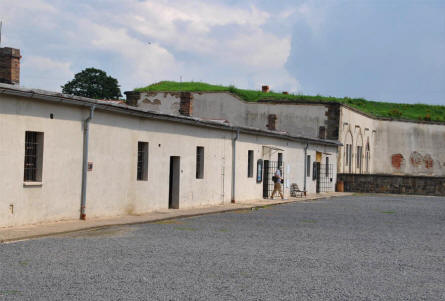 "One of the buildings at the ""new"" section of the Theresienstadt Concentration Camp in Terezin."