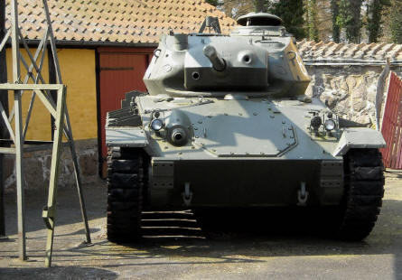 A M-24 Chaffee light tank at the Bornholm Defence Museum.