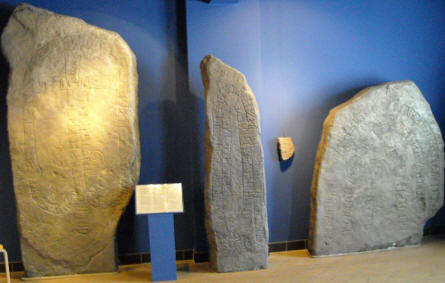 Rune stones are a part of the Viking age exhibition at Bornholm Museum.