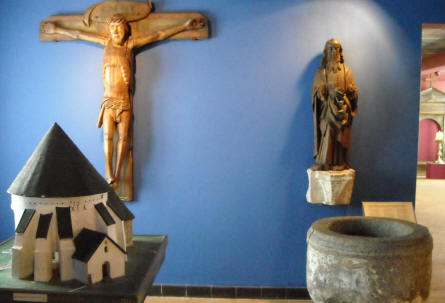 Bornholm is famous for its round churches. At the Bornholm Museum there is an exhibition of religious art.