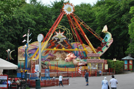 One of the many rides that can be used by all of the family at Bakken Amusement Park - Copenhagen.