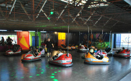 Bumper cars at Bakken Amusement Park - Copenhagen.