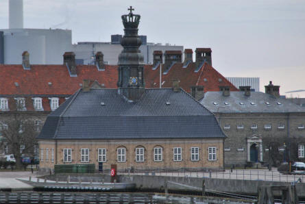 "One of the many very special buildings at the old Danish Naval Base ""Holmen"" in Copenhagen. This building is called the ""Nyholm Central Guardhouse""."