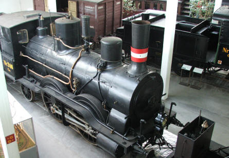 One of the many old steam trains at the Danish Railway Museum in Odense