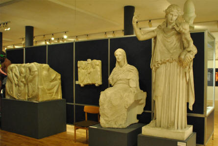 Some of the many ancient casts displayed at the Museum of Ancient Art at the Aarhus University.