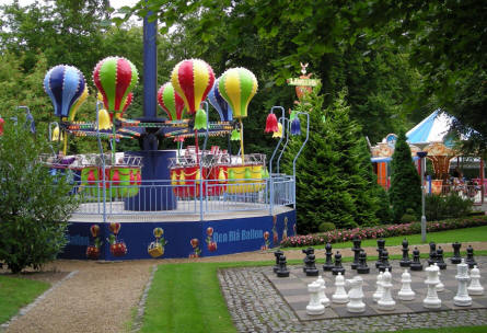 Some of the smaller attractions a Tivoli Friheden.