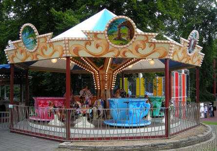 One of the many smaller carrousels at Tivoli Friheden.