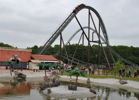 "The largest roller coaster at Djurs Sommerland - called ""Piraten"" (The Pirate)."