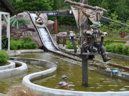 "One of the smaller waterslides at Djurs Sommerland - called ""Piratfisken"" (the Pirate fish)."