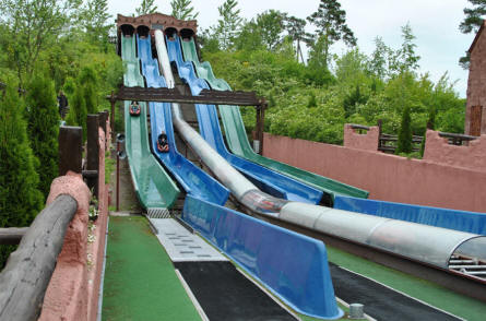 "The ""Speedy Gonzales"" water slide at Djurs Sommerland. Get up to high speed in a small rubber boat."