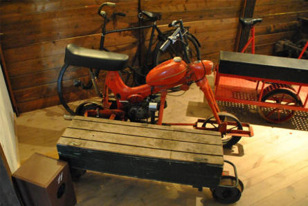 Some the home-made machines - used at the peat diggers narrow-gauge railway - displayed at the Stenvad Peat Digging Museum.