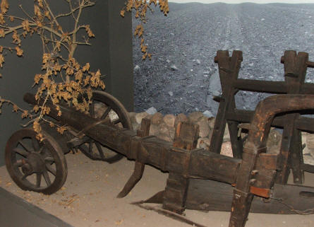 The first display at Gl. Estrup agricultural museum show how the history of agricultural life in Denmark started.