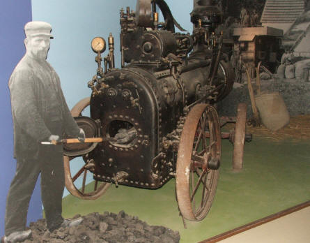 One of the early steam machines used by Danish farmers on display at Gl. Estrup agricultural museum.