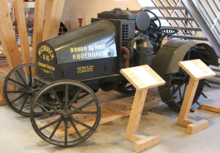 One of the oldest tractors in Denmark that is displayed at Gl. Estrup agricultural museum.