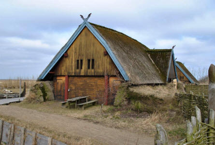 One of the houses at Bork Viking Harbour.