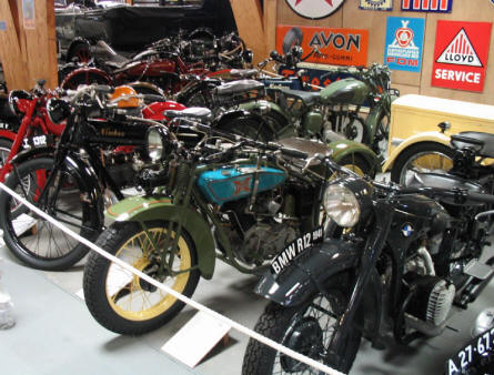 Jysk Automobile Museum also has a large collection of vintage motorcycles like: BMW, BSA, Triumph and Nimbus (a Danish motorcycle brand).