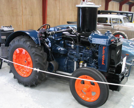 Jysk Automobile Museum also has a small collection of vintage trucks and tractors - like this Fordson.