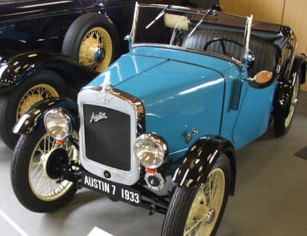 An old Austin 7 from 1933 at Jysk Automobile Museum.