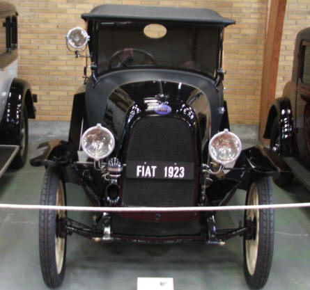 A 1923 Fiat at Jysk Automobile Museum.