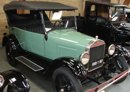 A 1927 Ford T at Jysk Automobile Museum.