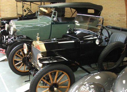 Some of the fine old automobiles at Jysk Automobile museum.