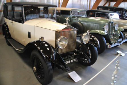 A vintage Rolls-Royce displayed at the Jysk Automobile Museum.