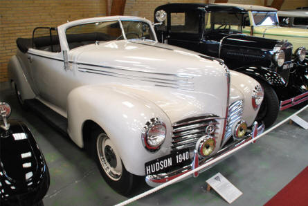 A classic 1940 Hudson displayed at the Jysk Automobile Museum.