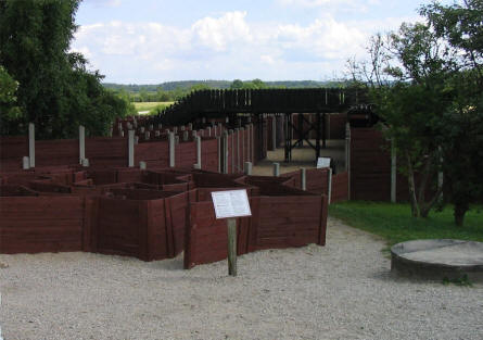 Some of the mazes at Labyrinthia in Rodelund.