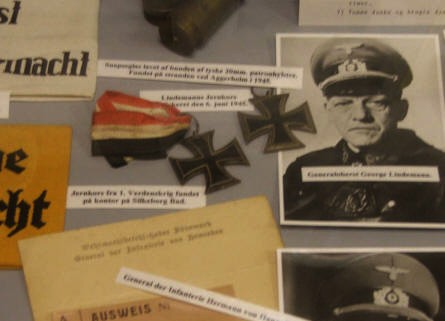 Information about the Germans who lived at this World War II Headquarter at the Bunker Museum in Silkeborg.