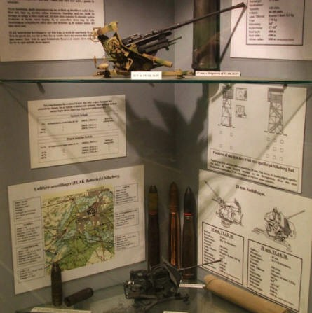 Information about the defence of the German World War II Headquarter at the Bunker Museum in Silkeborg.