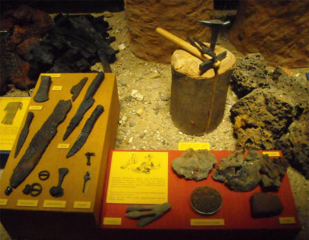 A part of the Bronze and Iron age exhibition at Silkeborg Museum.