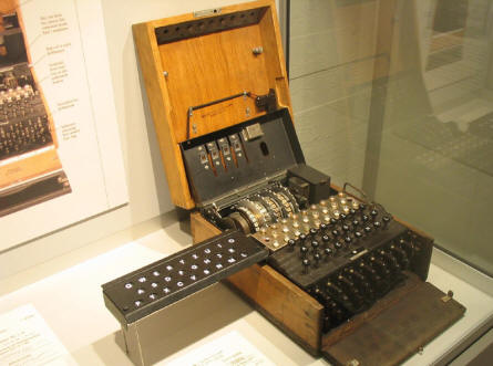 German World War II Enigma coding machine at the Occupation Museum in Skanderborg.