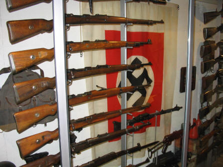 German World War II rifles at the Occupation Museum in Skanderborg.