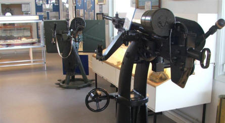 A collection of heavy machine guns used by the Danish Navy