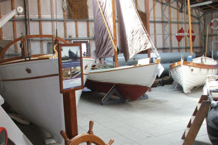A collection of small boats at the Maritime museum in Aalborg