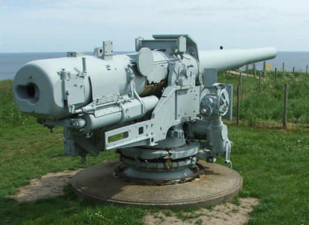 A Danish 15 cm gun at the Bangsbo Fortress in Frederikshavn