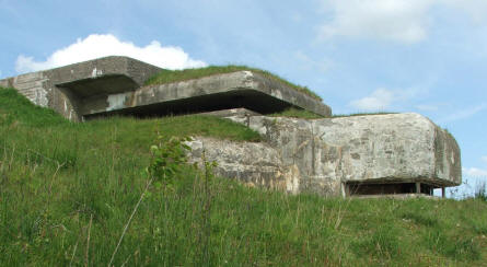 A German World War II observations and command bunker at the Bangsbo Fortress in Frederikshavn.