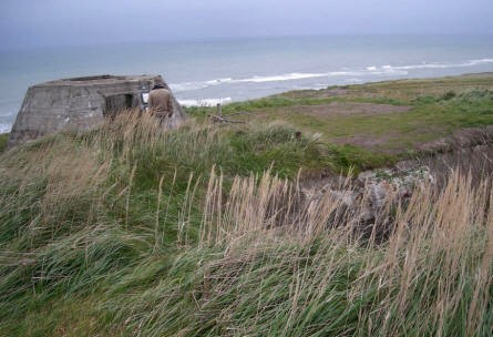 The World War II Atlantic Wall bunker complex in Hirtshals is right at the top of the coastline.
