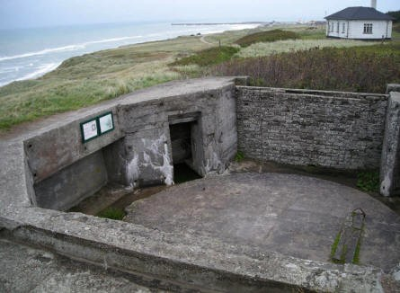 One of the guns positions at the World War II Atlantic Wall bunker complex in Hirtshals.