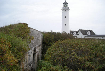 The World War II Atlantic Wall bunker complex in Hirtshals is right next to the lighthouse in Hirtshals.